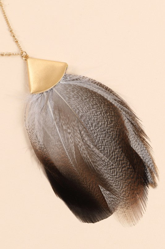 Ava Feather Necklace