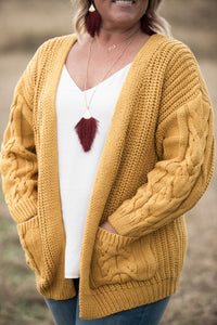 Courtney Chunky Cable Knit Cardigan