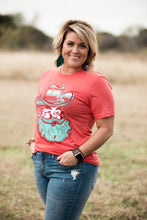 Load image into Gallery viewer, Holly Jolly Turquoise Santa Tee