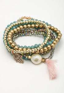 Luna Hand of Hasma Multi Layer Beaded Bracelet