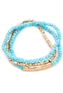 Jasmine Beaded Gold Accented Bracelet