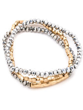 Load image into Gallery viewer, Jasmine Beaded Gold Accented Bracelet