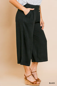 Cassie Cropped Pants-Curvy