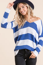 Load image into Gallery viewer, Aria Striped V-Neck Sweater