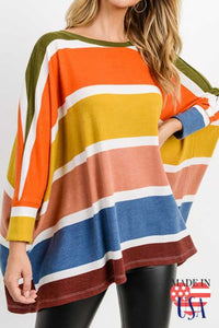 Poppy Striped Boxy Top