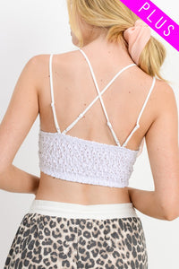 Jamie Scalloped Edged Lace Bralette-Curvy