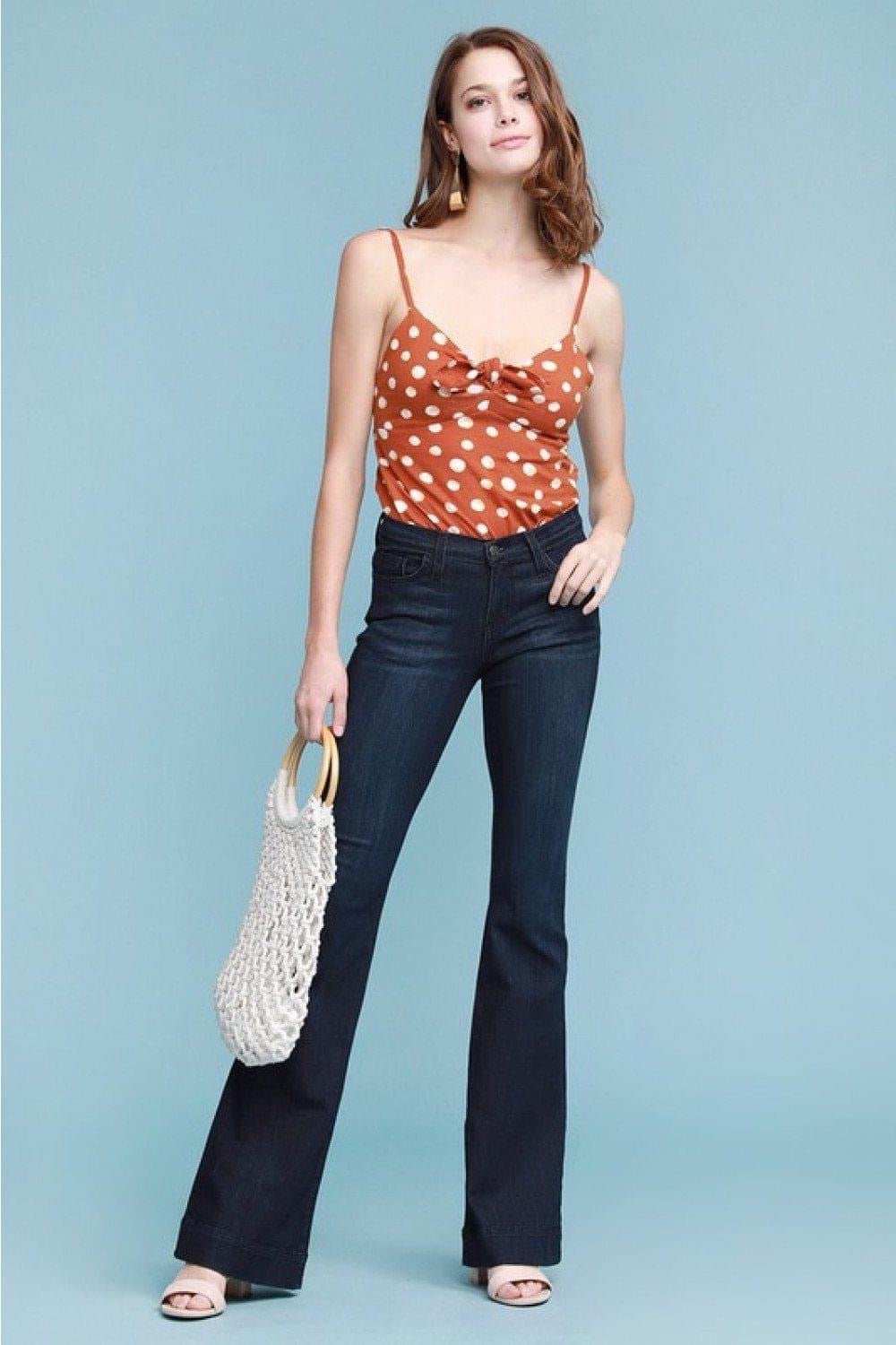 Shayla Denim Flared Trousers