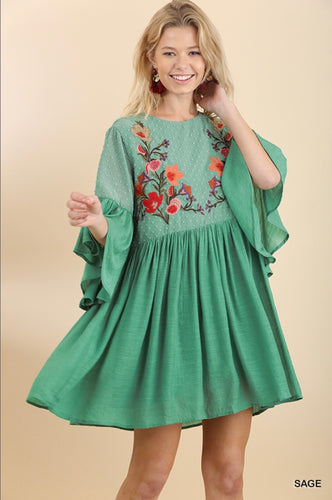 Maya Floral Embroidered Dress