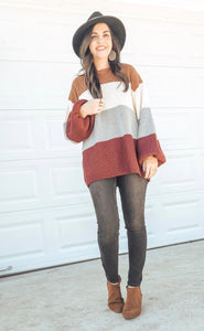 Harper Color Block Sweater