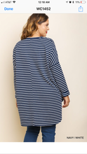 Load image into Gallery viewer, Jillian Long Sleeve Striped Tunic-Curvy