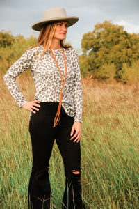 Bri Leopard Top