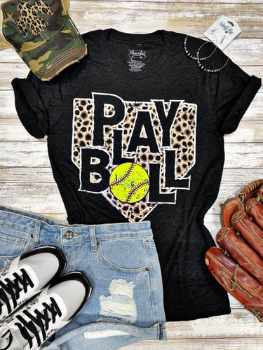 Play Ball Leopard Tee