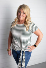 Load image into Gallery viewer, Candace Striped Side Tie Top