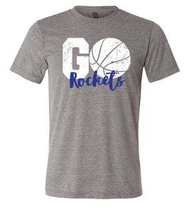 Go Rockets-Basketball V-neck Tee