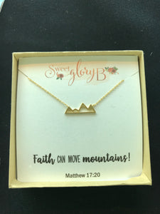 Faith Move Mountains Necklace