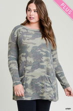 Load image into Gallery viewer, Jodi Camo Tunic-Curvy