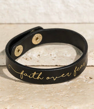 Load image into Gallery viewer, Faith Over Fear Cuff