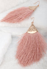 Load image into Gallery viewer, Kayla Hammered Tassel Earrings