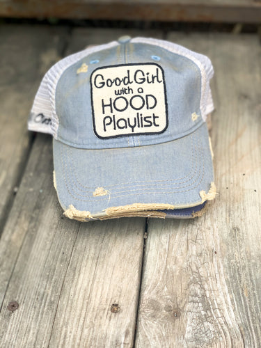 Good Girl with a Hood Playlist Hat