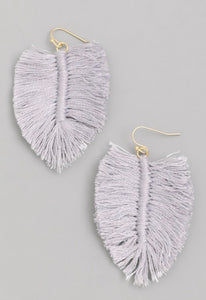 Paloma Leaf Shaped Dangle Earrings- 2.5""