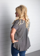 Load image into Gallery viewer, Julie Striped High Low Top