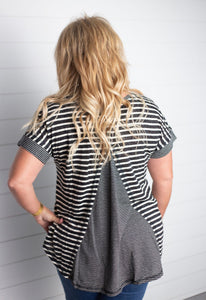 Julie Striped High Low Top