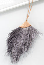 Load image into Gallery viewer, Kayla Hammered Tassel Necklace