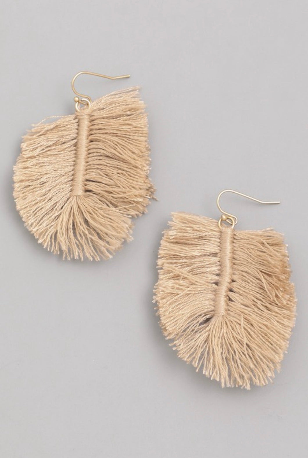 Paloma Leaf Shaped Dangle Earrings- 2.5