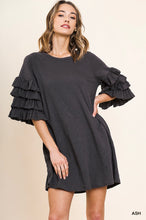 Load image into Gallery viewer, Camila Layered Ruffle Sleeve Dress