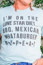 "Load image into Gallery viewer, ""Lone Star Diet"" Tee"