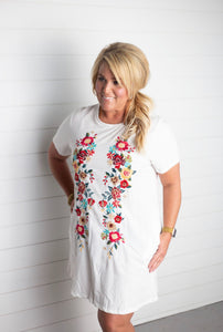 Brooke Floral Embroidered Dress