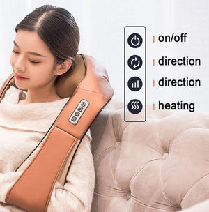 Portable Shiatsu Cervical Back and Neck Heat Massager **50% Off Today ONLY!**