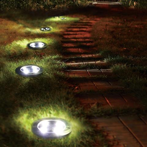 Solar Powered Floor Path LED Light (4 PCS) (50% OFF TODAY ONLY!) **LAST Few Units Left...**
