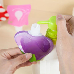 Reusable Travel Lotion Container Set (1 Set of 6PCS)