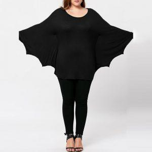 Plus Size Halloween Batwing T-shirt
