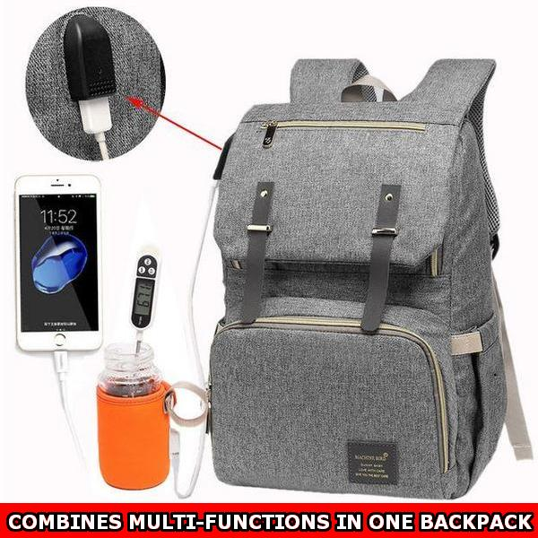 Waterproof Multi-compartment Diaper Backpack with USB port (Premium Limited Edition) **50% Off Today ONLY!**