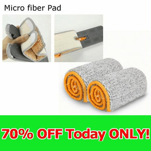 Additional 2PCS Microfiber Pad/Cloth for 2 Sided Mop (Replacement) **70% OFF Today Only!**
