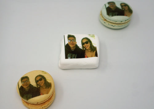A picture on a macaron or treat - Lola & Shorty's