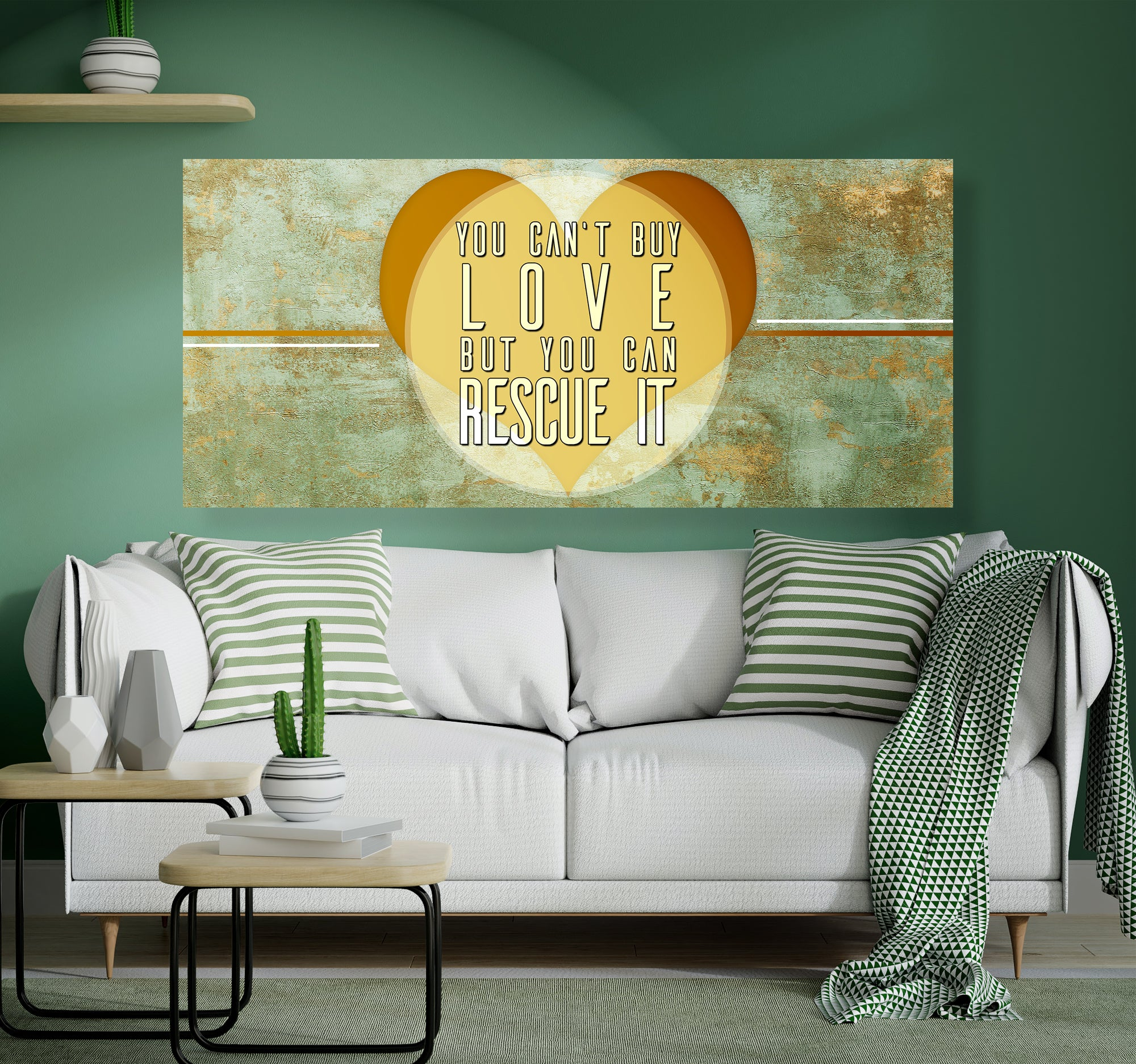 Home decor canvas wall art you cant buy wooden frame