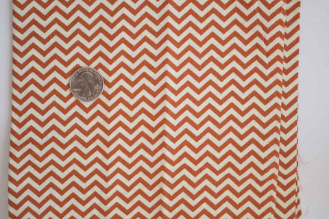 #137 Burnt Orange Mini Chevron