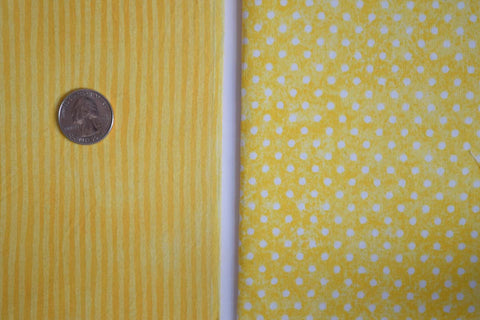 #144 Yellow Striped and Polka Dot