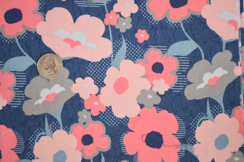 #14 Navy, Pink, and Coral Floral