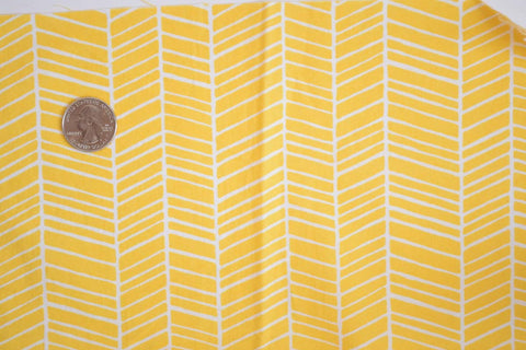 #154 Yellow Herringbone