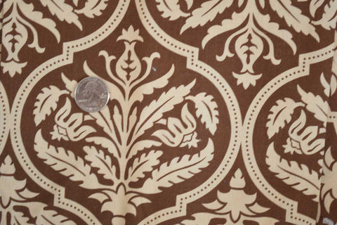 #199 Brown and Tan Damask