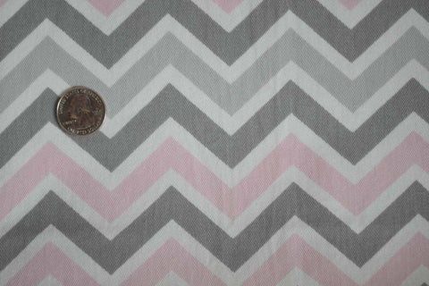 #73 Pink and Grey Chevron