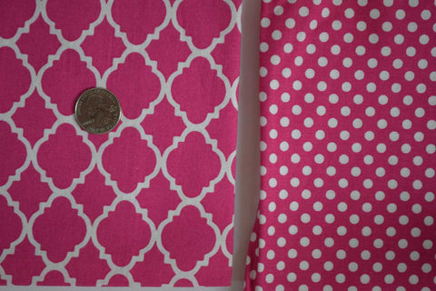 #87 Fuchsia Lattice and Polka Dot