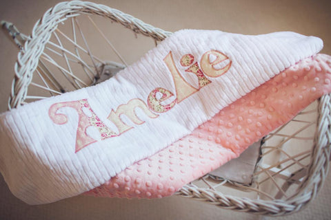 personalized girl blanket vintage rose
