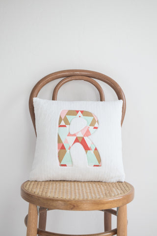 "Letter Pillow - ""Triangles"""