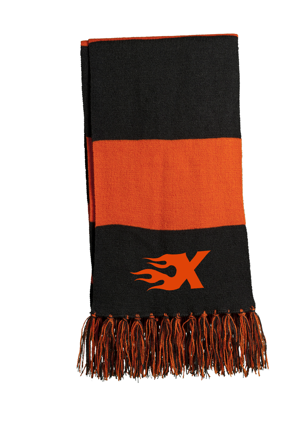 Xtreme Lacrosse Black/Orange Team Scarf