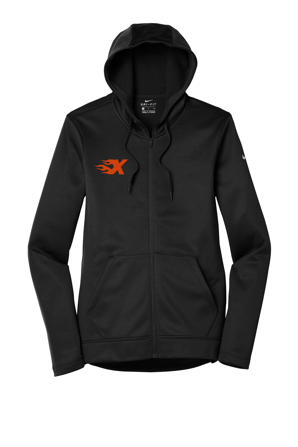 Xtreme Lacrosse Nike Ladies Black Therma-FIT Full Zip Hoodie